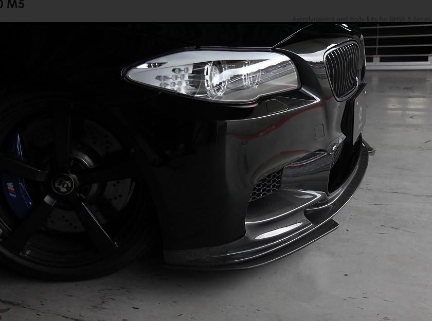 3D Design - BMW F10 M5 Front Lip Spoiler Set