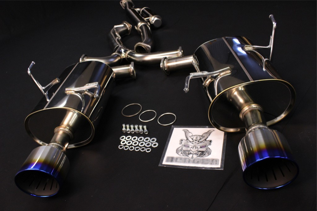 Pieces: 4 - Pipe Size: 65mm-54mm(x2) - Tail Size: 124mm(x2) - Body Type: S304 - Tail Type: SSR (Super Turbo Muffler) - 31029-AF008