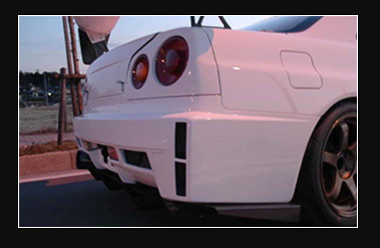 Rear Bumper - Construction: FRP - Colour: Unpainted - BNR34-RB