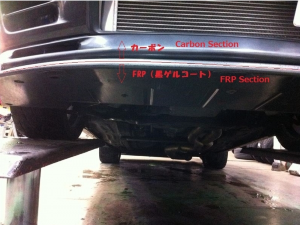 Material: Carbon & FRP black gel coat finish - BNR32