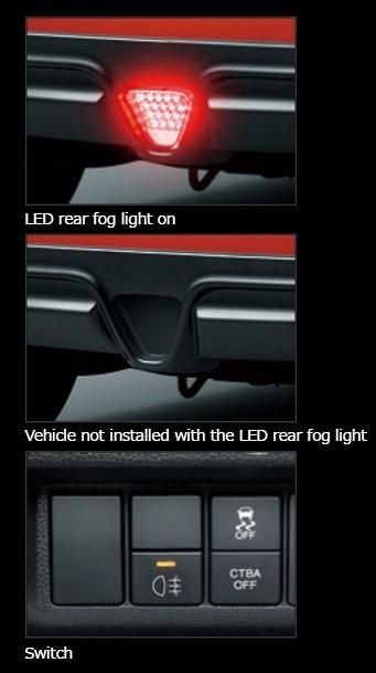 Honda Fit GK3, 4, 5, 6, GP5  Option LED Rear Fog Light - 34400-XMK-K0S0