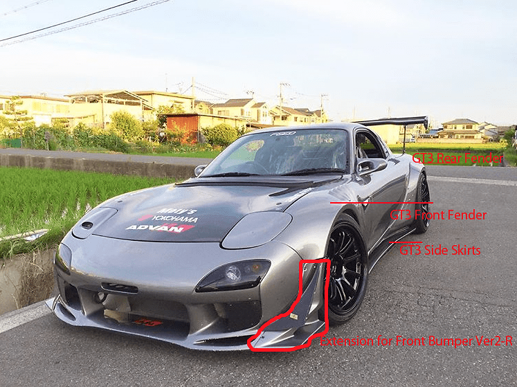 Mazda - RX7 - FD3S - includes R/L front fenders, R/L rear fenders, R/L side skirts - Afflux GT3 Aero