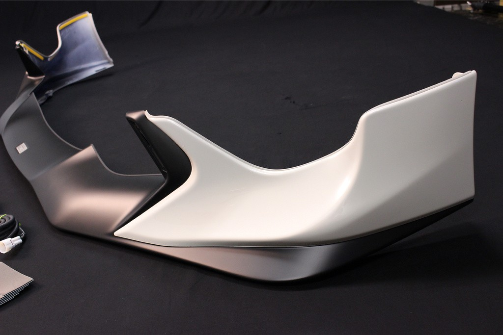 Front Spoiler with LED Lights - Painted White (K1X) - PPE made - MS341-18004-A1