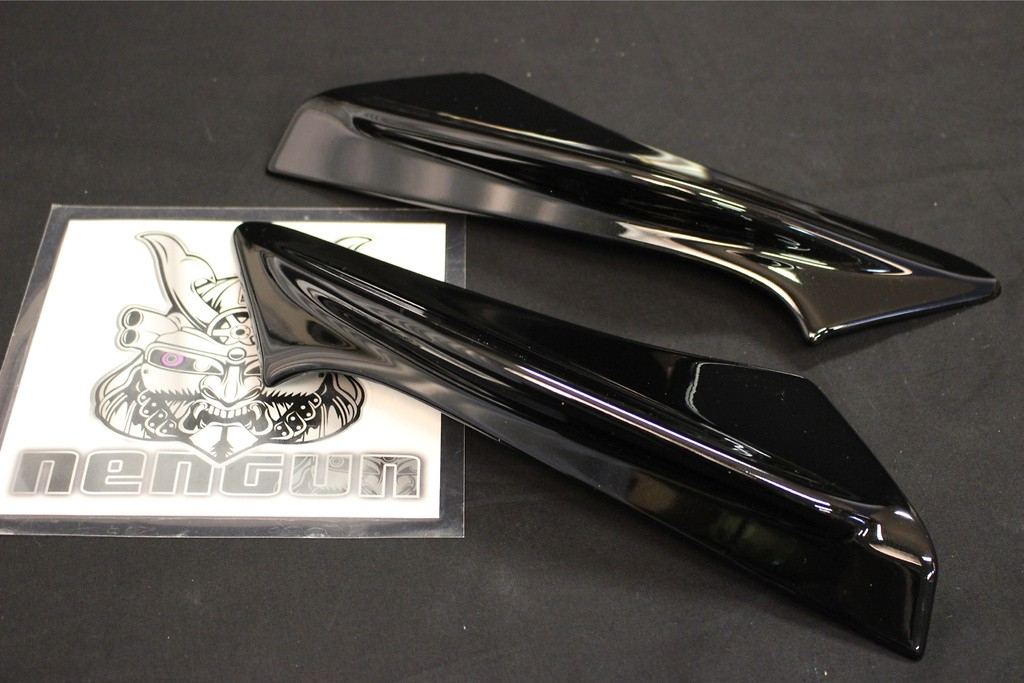 Rear Side Spoiler - Painted Black (D4S) - PPE made - MS315-18002-C0