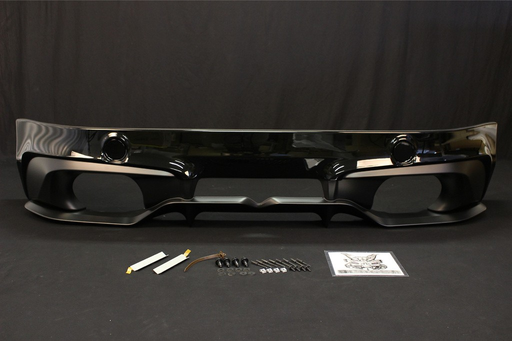 Rear Bumper Spoiler - Painted White (K1X) - PPE made - Must fit a High Response Muffler together - M