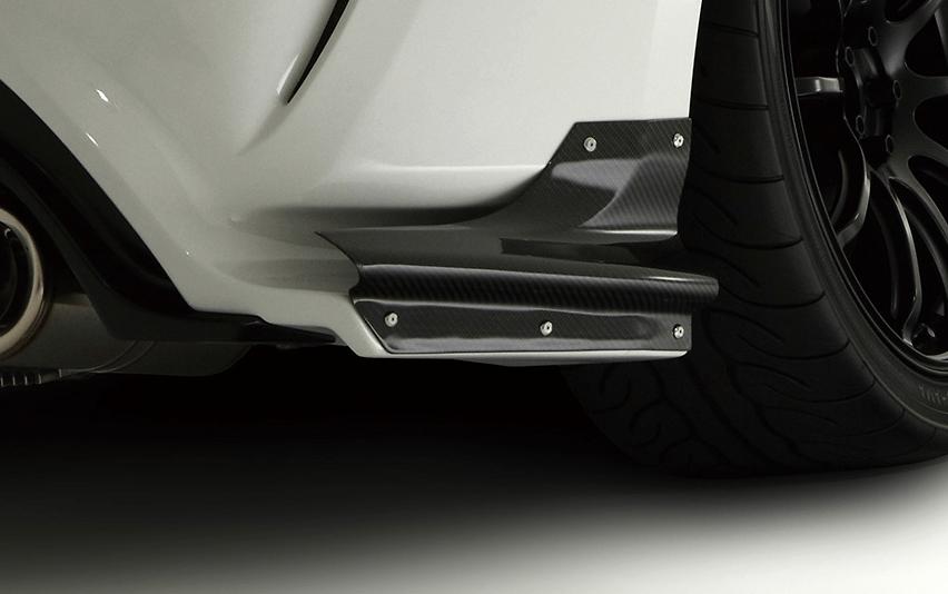 Air Shroud Set L&R (Rear Bumper Option Part) - Construction: Carbon - VATO-054