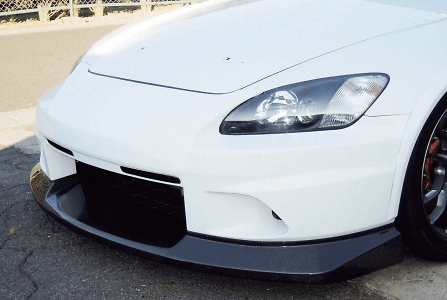 Street Version Front Bumper - Construction: FRP Upper + Wet Carbon Lower - S2F-1 + S2F-3