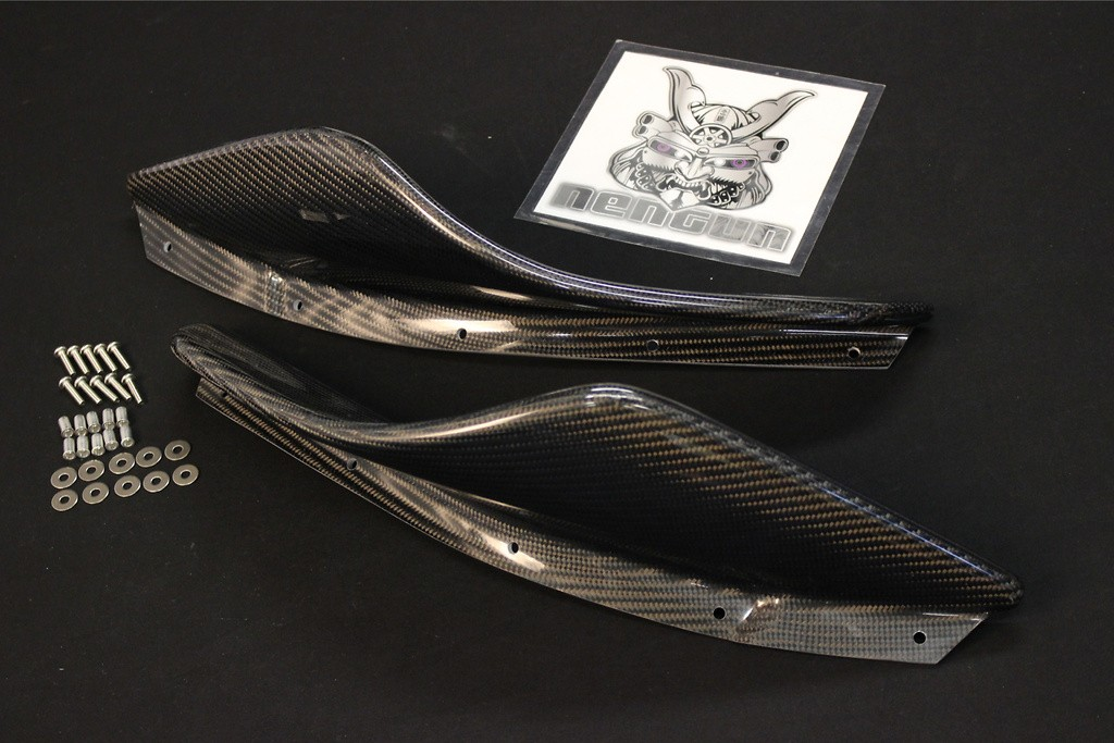 Upper Canards - Nissan - GTR - R35 - for Top Secret Front Bumper and Front Fenders