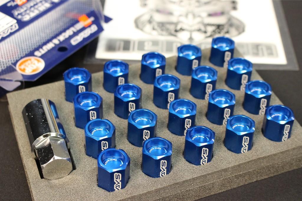 4x Locks+16x Nuts - Blue Almite
