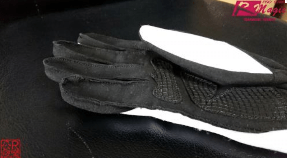 Color: White/Black - Size: M - Racing Gloves - W/B