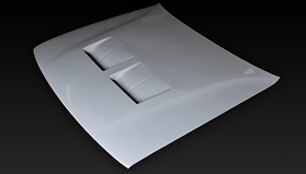 Aero Bonnet - Construction: FRP - Colour: Unpainted - C33-FRPAB