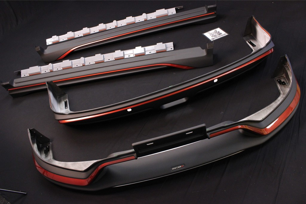 Aero Kit - Front under spoiler + side skirts + rear under spoiler - Construction: ABS Plastic - 62010-RN2T1-X0