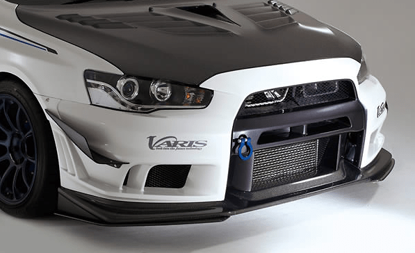 Front Bumper Ver.2 + Under Lip Ver.S - Construction: FRP+LIP CARBON - VAMI-213