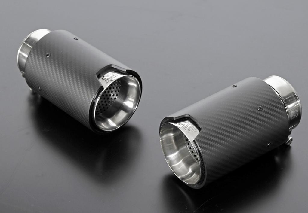 Aero Carbon Muffler for 450h - 2x90mm - AIMPVIPEXE-RX-CMUF