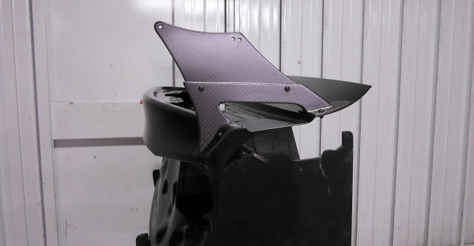 Exclusive Mount - Can fit with Auto Spoiler - Material: Dry Carbon - VOLEXM-USC10