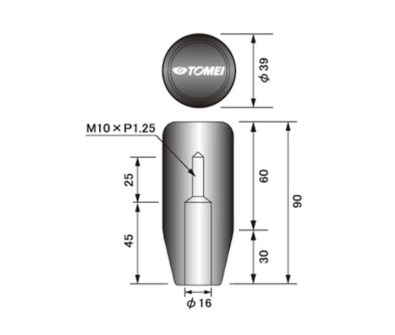 Length: Long - Thread: M10 x P1.25 - 32865S010L