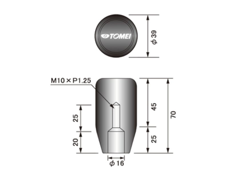 Length: Short - Thread: M10 x P1.25 - 32865S010S