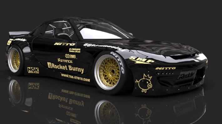 Rocket Bunny - Mazda RX7 (FD3S) Wide Body Kit