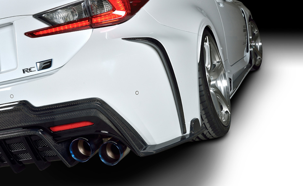 Rear Bumper Extension - Construction: Carbon - 1L003P30