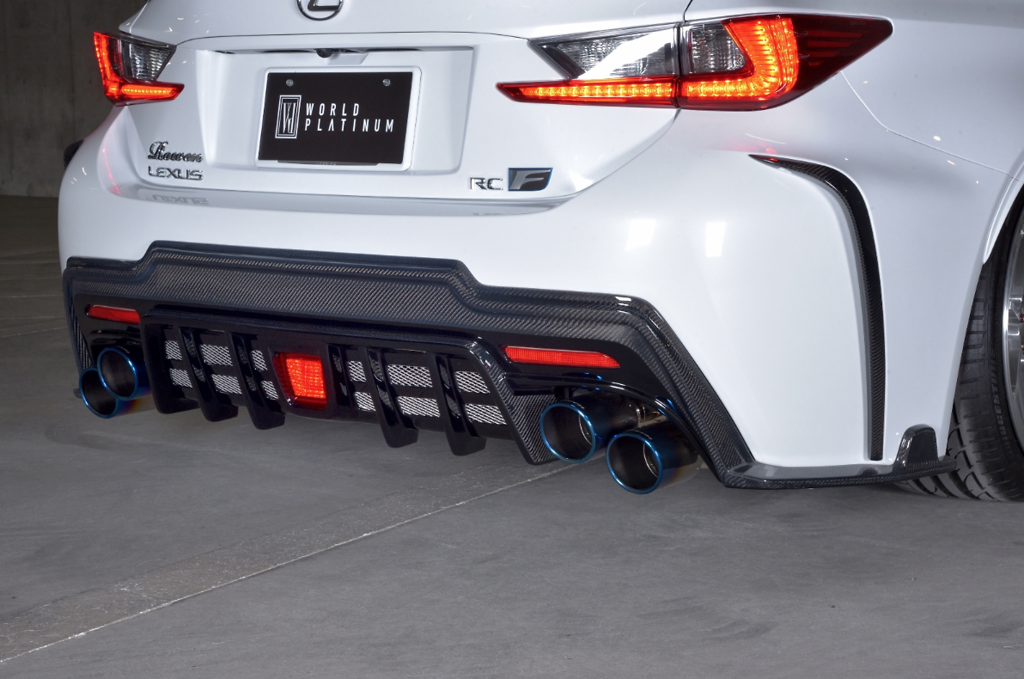 Rear Bumper Diffuser - Construction: FRP + Carbon - 1L003P10