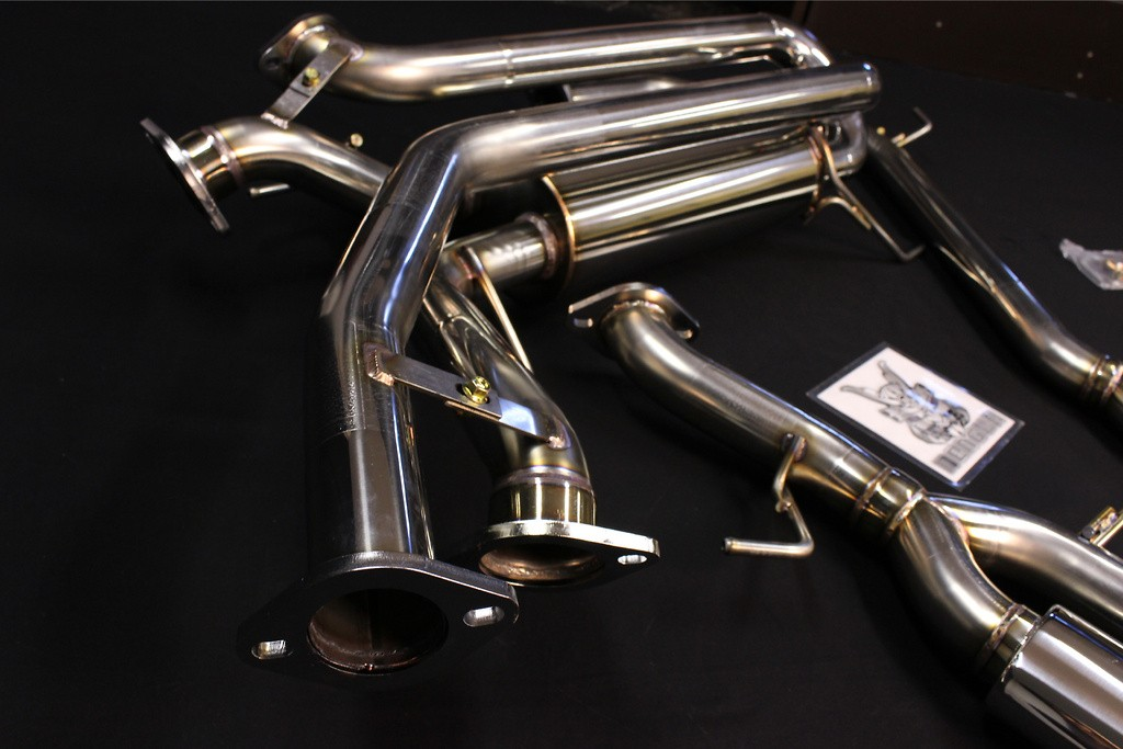 Side muffler OVAL 117 W x 2 stainless steel - Left and Right - SMO2SS
