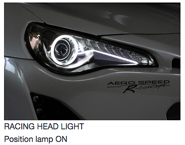 60161 - Racing Headlight - Only for discharge head lamp with LED clearance