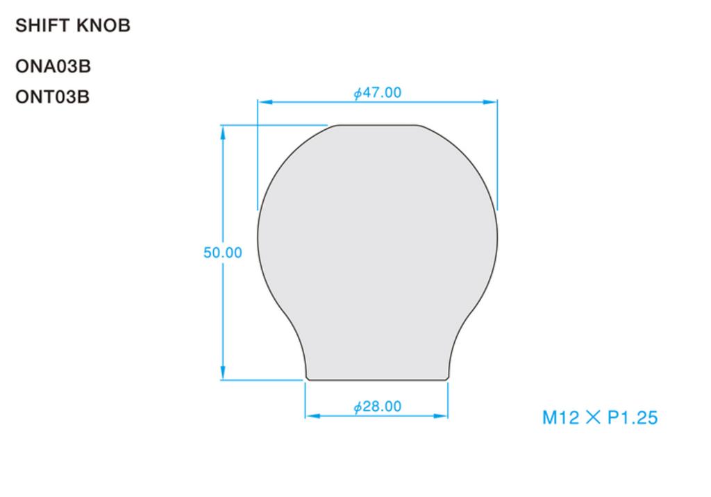 Colour: Titanium Blue - Length: 50mm - Thread: M12 x P1.25 - ONT03B