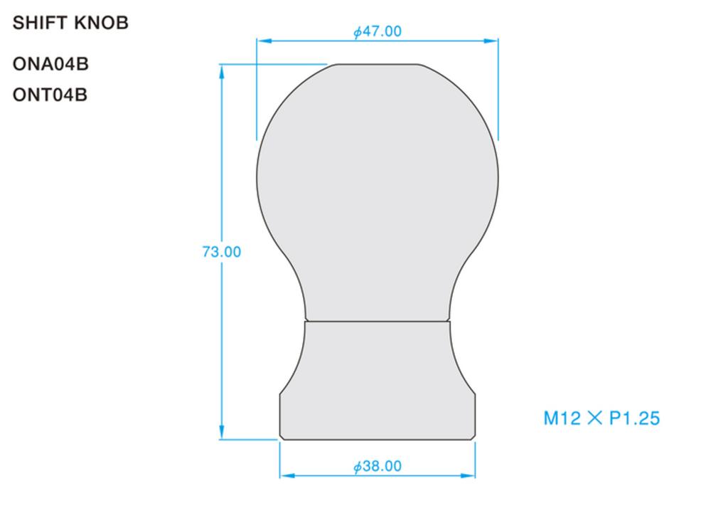 Colour: Titanium Blue - Length: 73mm - Thread: M12 x P1.25 - ONT04B