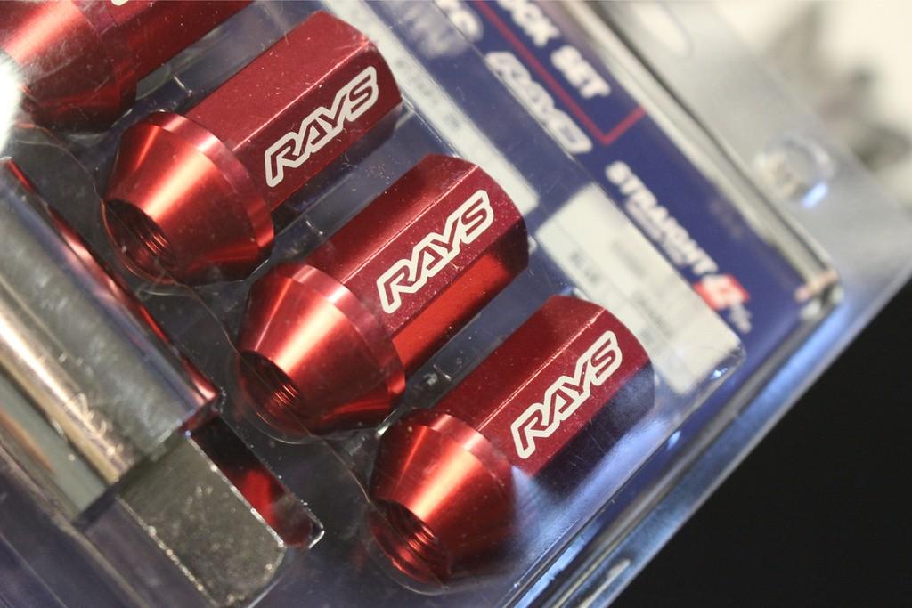 Colour: Red Almite - Thread: M12x1.5 - Length: 42mm - Quantity: 4 Locks - L42-4L
