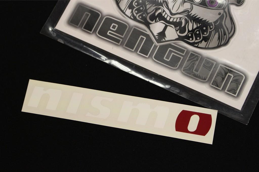 NISMO Logo Sticker - Size: 18x150mm - Colour: White - 99992-RN224