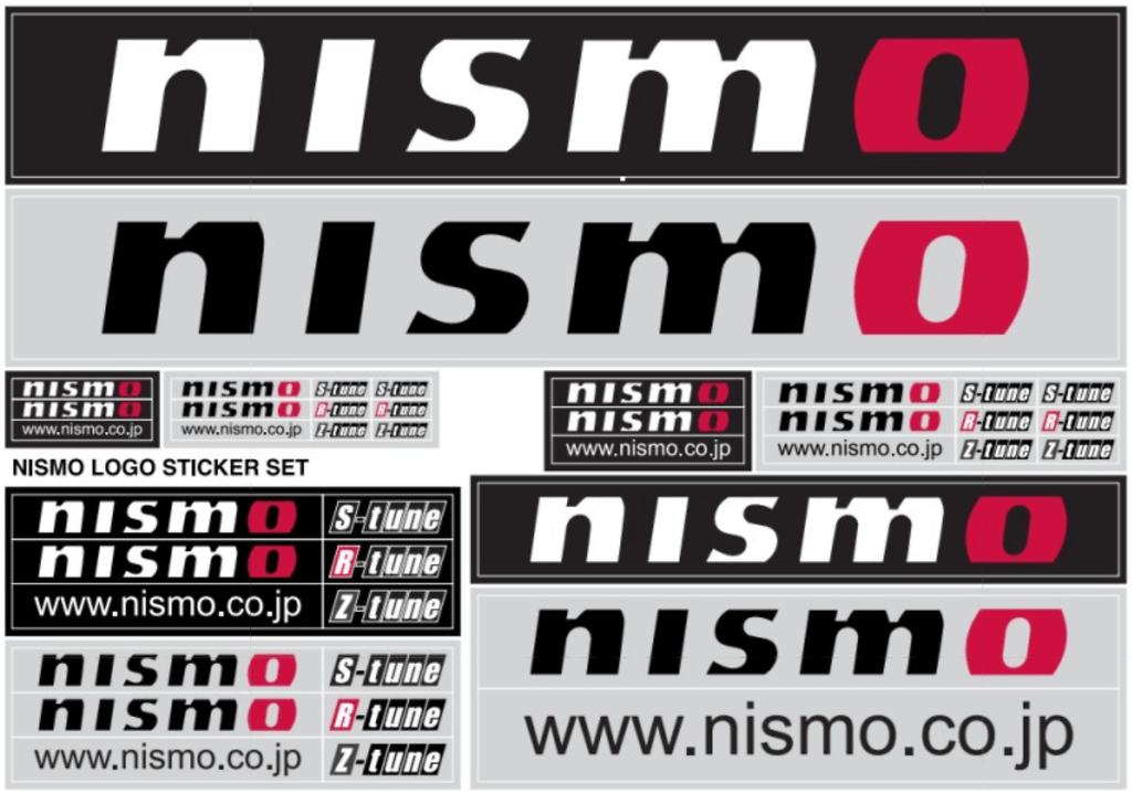 NISMO Logo Sticker Set - Size: A4 - 99992-RN237