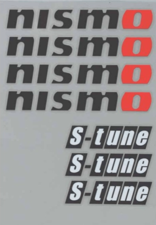 S-Tune Sticker Set - Size: 21x162mm & 25x95mm - Colour: Black - 99992-RN242
