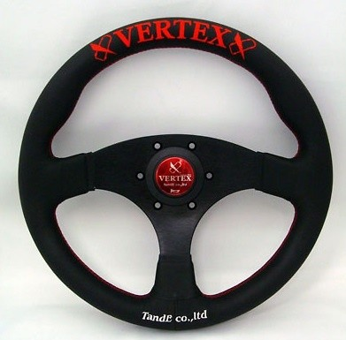 Type: Flat - Color: Black/Red stich - Diameter: 325mm - VRFR