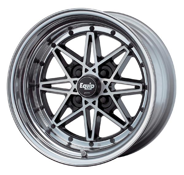 Work Wheels - Equip 03 - 14inch Black Cut Clear