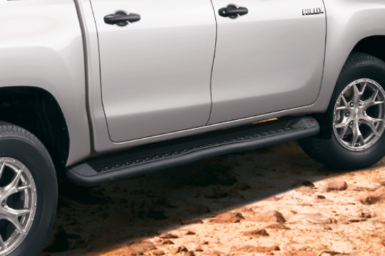 505 Side Step - Construction: Aluminum & Steel - Colour: Gloss Black - MS344-0K001