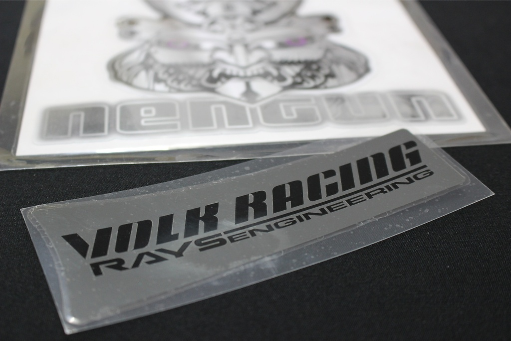 "Volk Racing & Rays Engineering Spoke Sticker for 17/18"" - Colour: Metal Black - Quantity: 4 - No.10 MB 17/18"" - Set of 4"