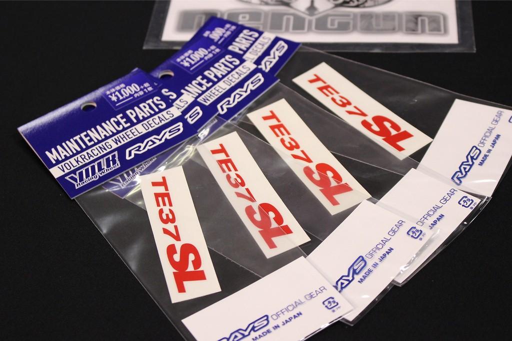 """TE37SL Rim Sticker for 17/18/19"""" - Colour: Red - Quantity: 4 - No.11 RD - Set of 4"""