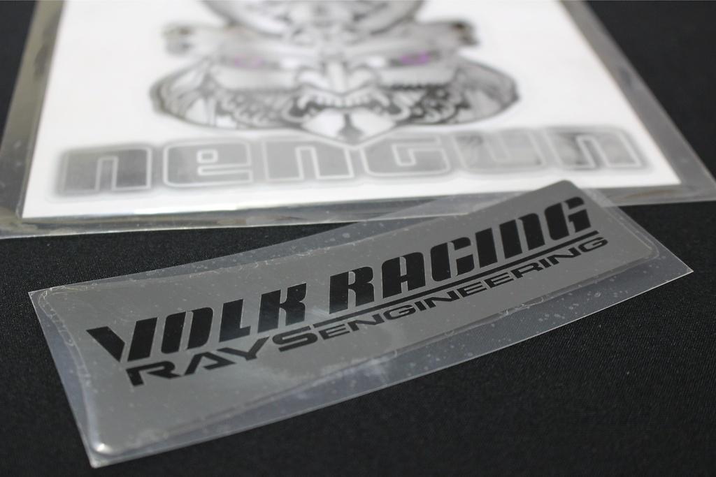 "Volk Racing & Rays Engineering Spoke Sticker for 19"" - Colour: Metal Black - Quantity: 1 - No.10 MB 19"""