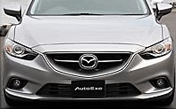 Front Grille - For Mazda OEM Bumper - Construction: FRP - Colour: Unpainted - MGJ2500
