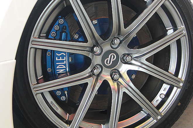Set: Front - Caliper Type: 6POT - Colour: BlueAlumite - Rotor Type: e Slit - Rotor Size: 370mm x 34mm - Brake Pads: MX72 - Brake Pads: MX72Plus - Brake Pads: SSM - Brake Pads: TYPE-R - END6POT-KB1