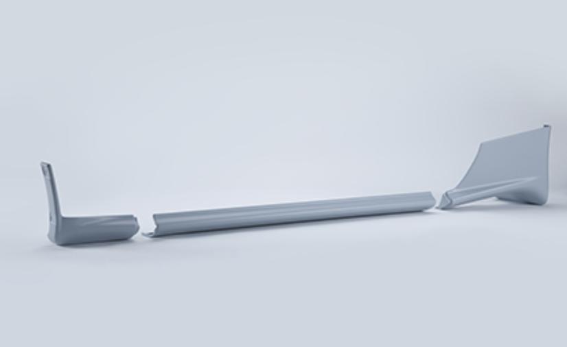 Mudguard-CTR Assembly LH - OEM Part Number: G6853-05U03+G6857-06U00+G6857-06U10 - 76851-RJR20
