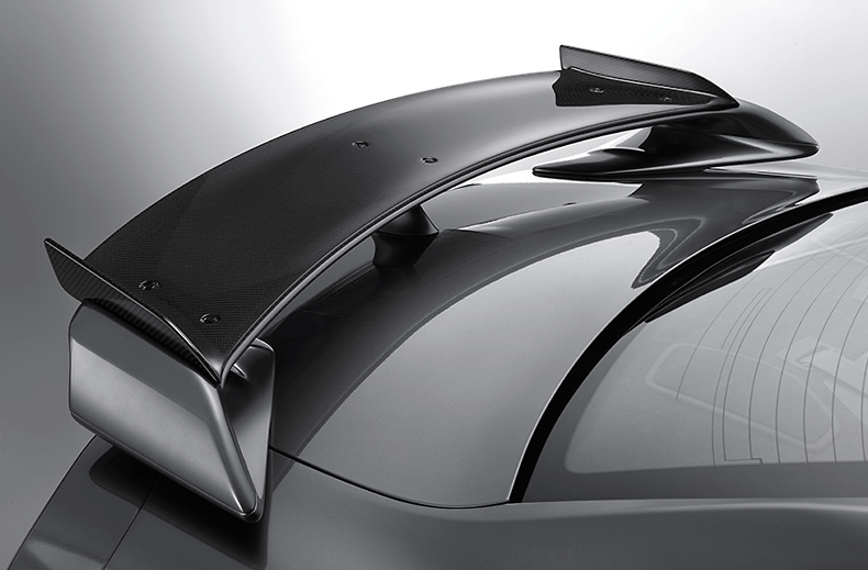 Add-on Rear Spoiler - Construction: Dry Carbon - Colour: Clear Finish - 98100-RSR50