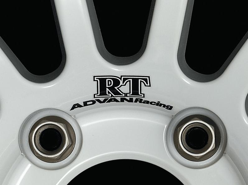 ADVAN Racing RT dedicated sticker between nut holes - Colour: Dark Blue - Quantity: 2 - Wheel: Racing Hyper Silver / Racing White - V0211