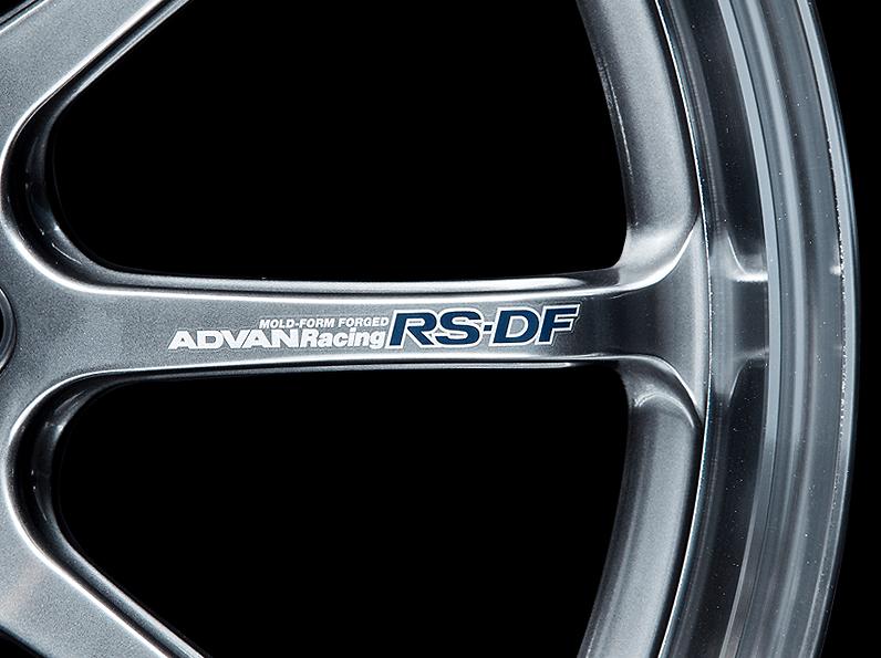 ADVAN Racing RS-DF Progressive Spoke Sticker - Colour: Silver - Quantity: 2 - Wheel: Machining & Racing Hyper Black / Racing Titanium Black / Dark Bronze Metallic - V2381