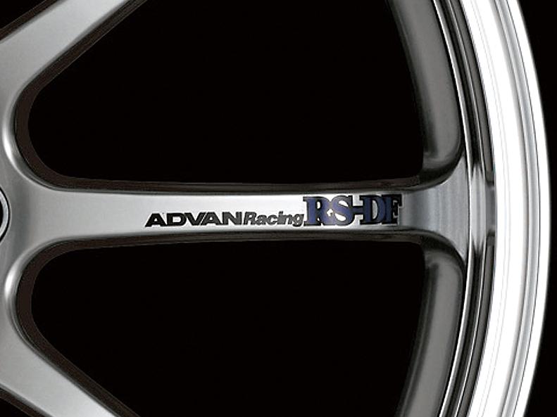 ADVAN Racing RS-DF Spoke Sticker - Colour: Black - Quantity: 2 - Wheel: Machining & Racing Hyper Silver - V0987