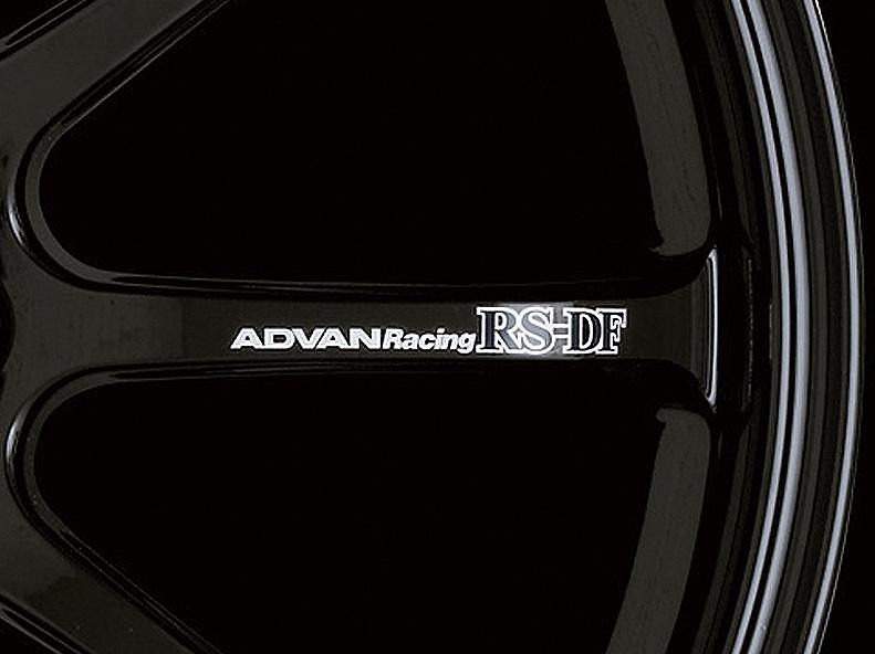 ADVAN Racing RS-DF Spoke Sticker - Colour: White - Quantity: 2 - Wheel: Racing Gloss Black / Racing Hyper Bronze - V0988