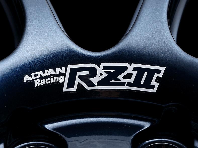 ADVAN Racing RZâ…¡ dedicated sticker between nut holes - Colour: White - Quantity: 2 - Wheel: Racing Hyper Black & Ring / Racing Gloss Black & Ring / Racing Indigo Blue & Ring - V1964