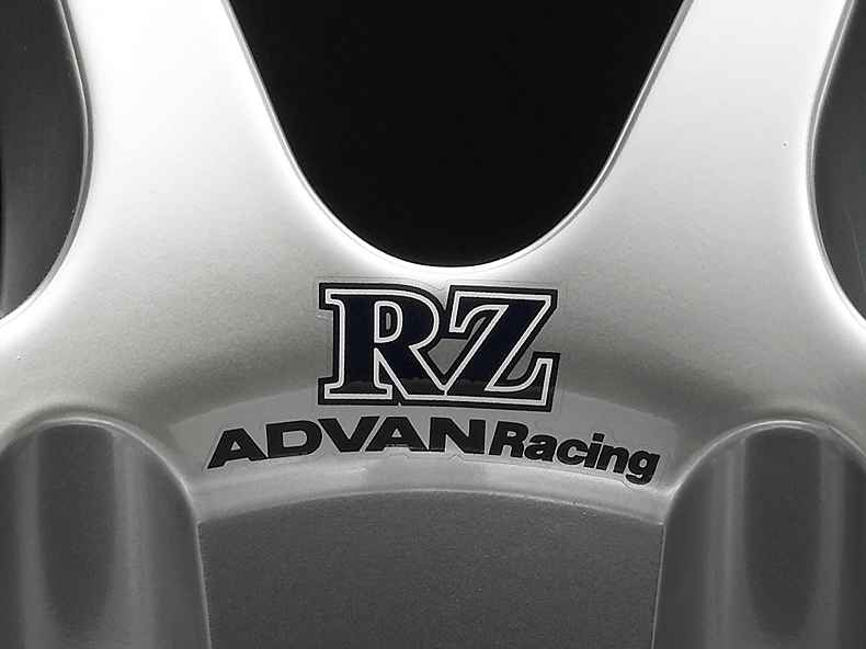ADVAN Racing RZ dedicated sticker between nut holes - Colour: Dark Blue - Quantity: 2 - Wheel: Racing Hyper Silver / Bronze - Z9153