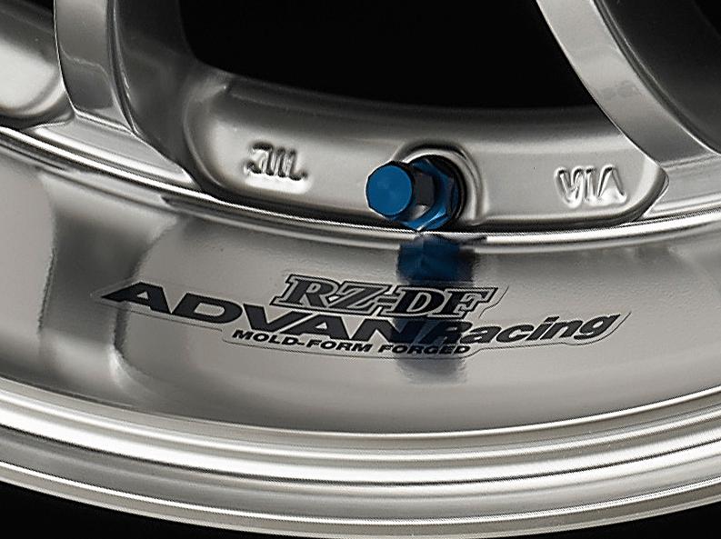 ADVAN Racing RZ-DF Rim Sticker - Colour: Dark Blue - Quantity: 2 - Wheel: Machining & Racing Hyper Silver / Machining & Racing Hyper Black - Z9850