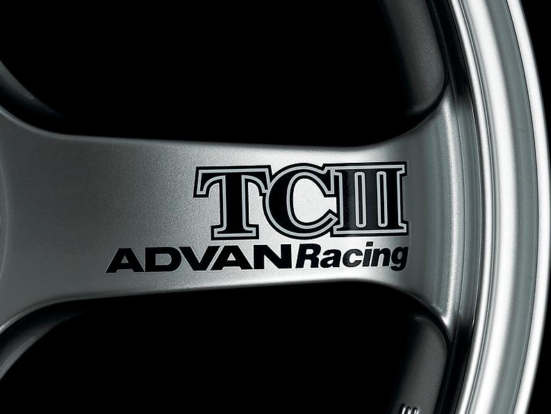 ADVAN Racing TCIII Spoke Sticker - Colour: Dark Blue - Quantity: 2 - Wheel: Racing Hyper Silver - V0225
